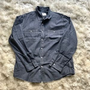 Adriano Goldshmeid AG Blue Cotton Button Down